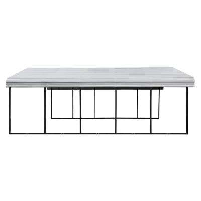 20 ft. W x 24 ft. D Galvanized Steel Carport, Car Canopy and Shelter