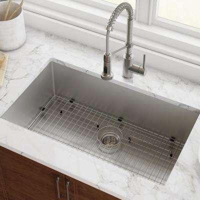 Standart PRO 32in. 16 Gauge Undermount Single Bowl Stainless Steel Kitchen Sink