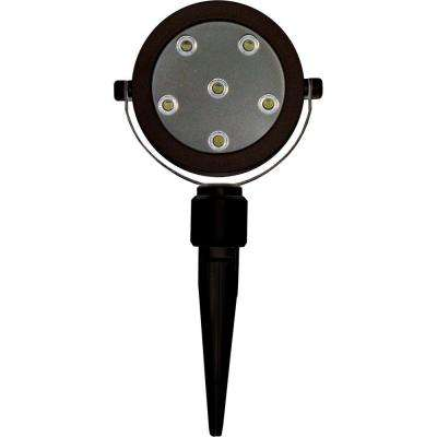 6-Light Black Plant Accent LED Spotlight