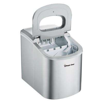 27 lb. Portable Countertop Ice Maker in Silver