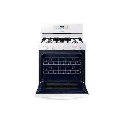 30 in. 5.8 cu. ft. Single Oven Gas Range Manual Clean Oven in White
