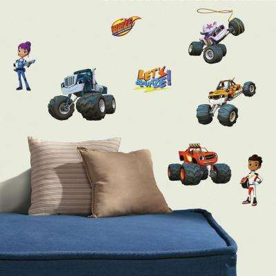 5 in. W x 11.5 in. H Blaze and the Monster Machines 28-Piece Peel and Stick Wall Decal