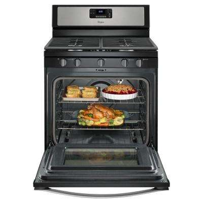 30 in. 5.0 cu. ft. Gas Range with Self-Cleaning Convection Oven in Stainless Steel