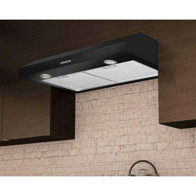 Slim Plus 30 30 in. Under-Cabinet Range Hood in Black