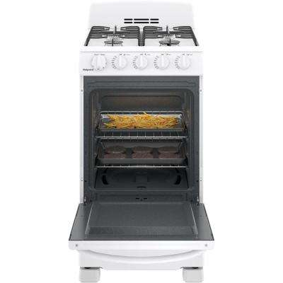 Hotpoint 20 in. 2.3 cu. ft. Gas Range Oven in White