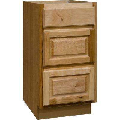 18x34.5x24 in. Hampton Drawer Base Cabinet with Ball-Bearing Drawer Glides in Natural Hickory