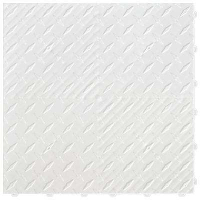 15.75 in. x 15.75 in. Arctic White Diamond Trax 9-Tile Modular Flooring Pack (15.5 sq. ft. / case)