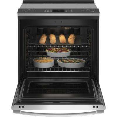 Profile 5.3 cu. ft. Electric Range with Steam-Cleaning Convection Oven and Air Fry in Stainless Steel