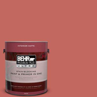 Home Decorators Collection 1 gal. #HDC-CL-10 Tapestry Red Flat/Matte Interior Paint