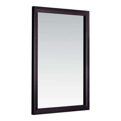 Urban Loft 30 in. L x 22 in. W Framed Wall Mirror in Dark Espresso Brown