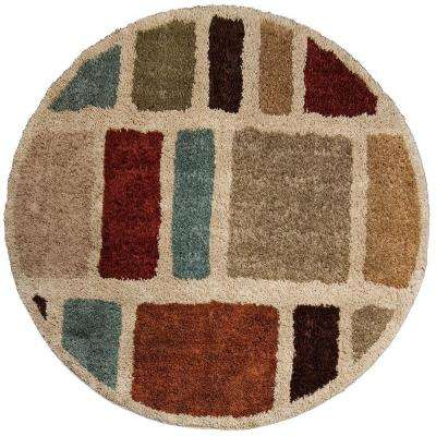 Moodie Blues Multi 7 ft. 10 in. Round Area Rug