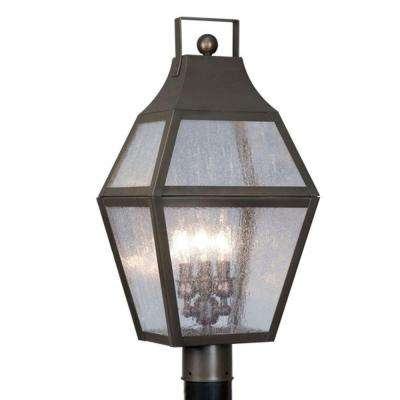 Providence 3-Light Outdoor Bronze Incandescent Post Lantern
