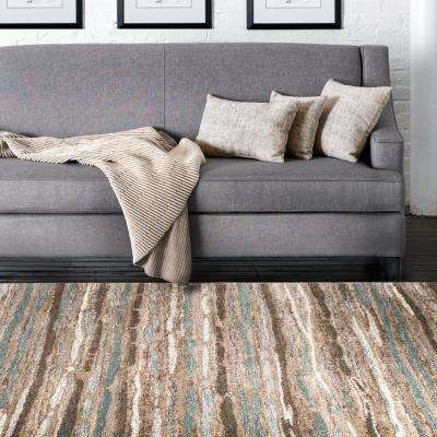 Shoreline Multi 8 ft. x 10 ft. Striped Area Rug