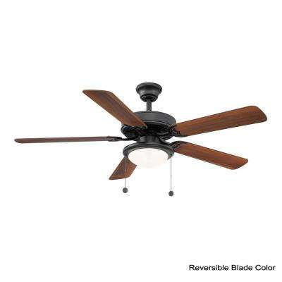 Trice 52 in. LED Black Ceiling Fan
