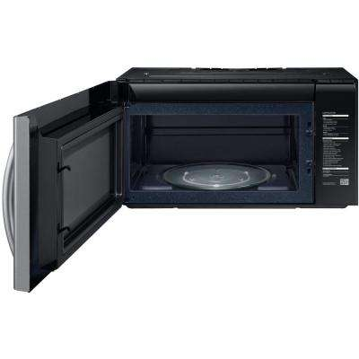 30 in. W 2.1 cu. ft. Over the Range PowerGrill Microwave with Sensor Cook in Fingerprint Resistant Stainless Steel