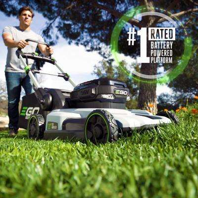 21 in. 56V Lithium-Ion Cordless Electric Dual-Port Walk Behind Self Propelled Mower, Two 5.0 Ah Batteries Included
