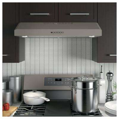 30 in. Convertible Under Cabinet Range Hood with Light in Slate, Fingerprint Resistant