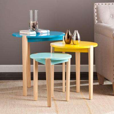 Carlsbad Multicolored End Table (Set of 3)