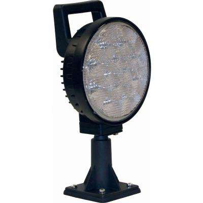 12-Clear LED 6 in. Round Flood Light