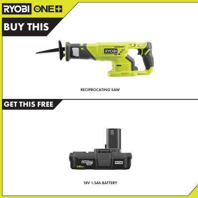 18-Volt ONE+ Cordless Reciprocating Saw with 1.5 Ah Compact Lithium-Ion Battery