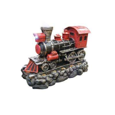 26 in. Red Locomotive Fountain