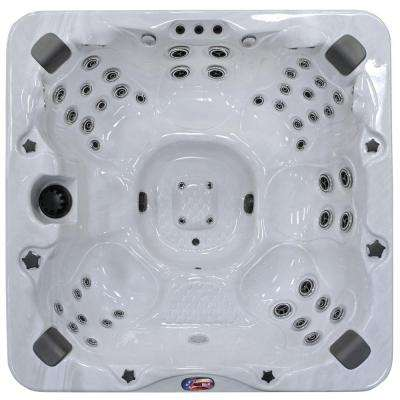6-Person 56-Jet Bench Spa with Bluetooth Stereo System, Subwoofer and Backlit LED Waterfall