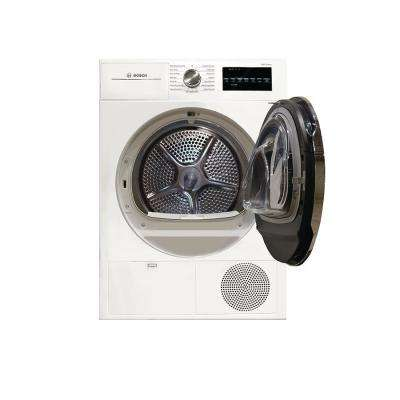 800 Series 24 in. 4 cu. ft. White with Chrome Accents Electric Condensation Compact Dryer, ENERGY STAR