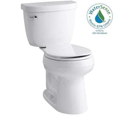 Cimarron 2-piece 1.28 GPF Single Flush Round Toilet in White
