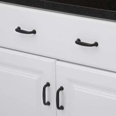 3 in. (76 mm) Center-to-Center Matte Black Traditional Drawer Pull