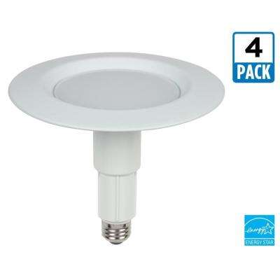 5 in. to 6 in. White Integrated LED Recessed Trim (4-Pack)