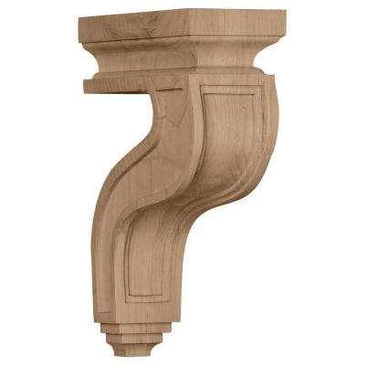 3-1/2 in. x 7-1/4 in. x 11 in. Cherry Hollow Back Corbel