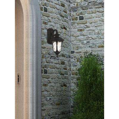 Providence Wall-Mount 1-Light Black Outdoor Incandescent Wall Lantern Sconce