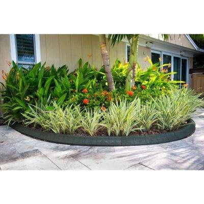 4 ft. Black Rubber Curb Landscape Edging (4-Pack)