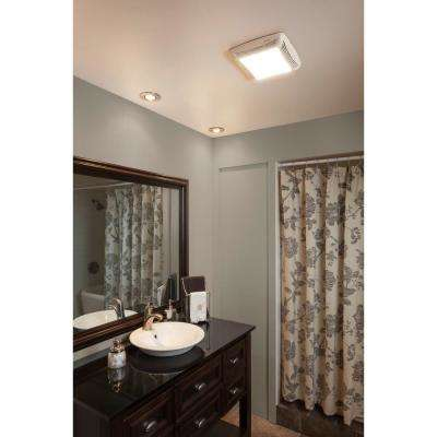 80 CFM Ceiling Bathroom Exhaust Fan with Light