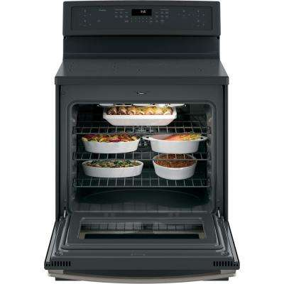 Profile 5.3 cu. ft. Smart Induction Range with Self-Cleaning Convection in Black Slate, Fingerprint Resistant