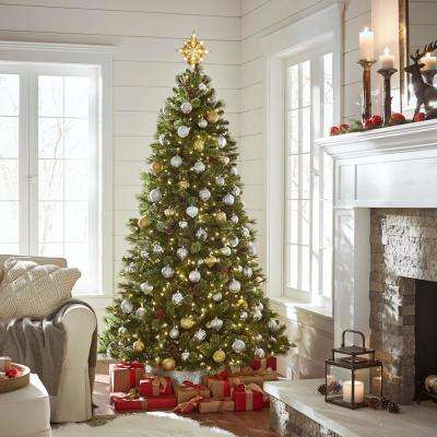 Alexander Pine 7.5 ft. Pre-Lit LED Pine Artificial Christmas Tree with 550 Warm White Lights