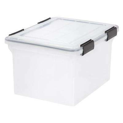 32 Qt. Weather Tight Storage Box in Clear