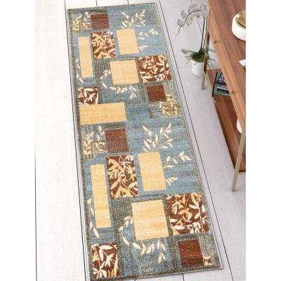 Barclay Hannover Light Blue 3 ft. x 10 ft. Traditional Oriental Runner Rug