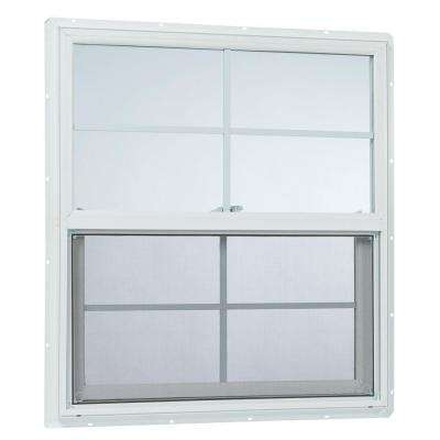 31.25 in. x 35.25 in. 25000 Series Single Hung Vinyl Window Insulated with Grids