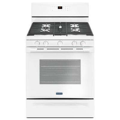 30 in. 5.0 cu. ft. Wide Gas Range with 5th Oval Burner in White