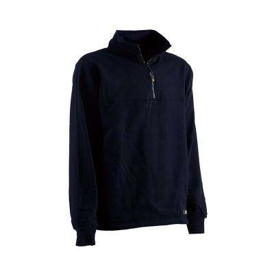 Men's Cotton and Polyester Fleece Thermal Lined Quarter Zip Sweatshirt