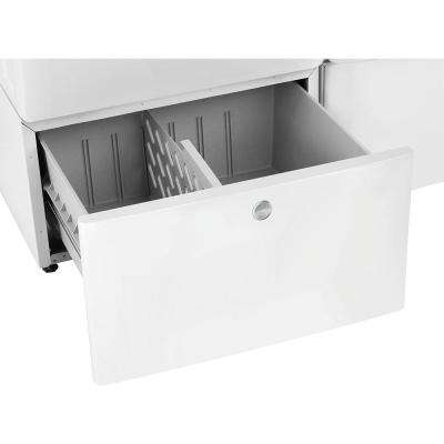 15 in. Laundry Pedestal with Storage Drawer in White