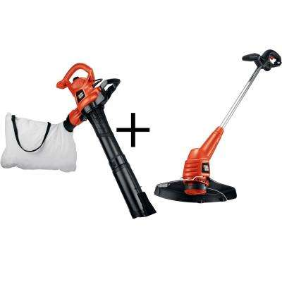 230 MPH 385 CFM 12-Amp Electric Leaf Blower Vacuum with Bonus 2-in-1 Trimmer and Edger