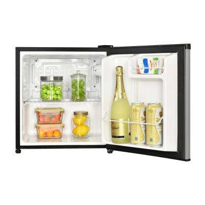 1.7 cu. ft. Freezer-less Mini Fridge in Black