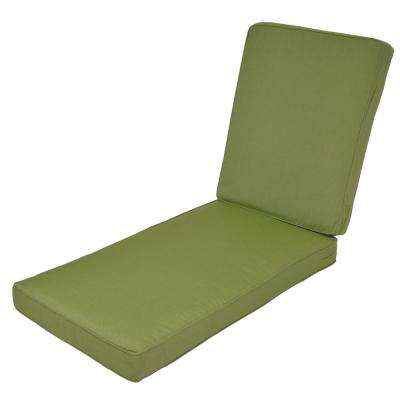 Woodbury Sunbrella Spectrum Cilantro Replacement Outdoor Chaise Lounge Cushion