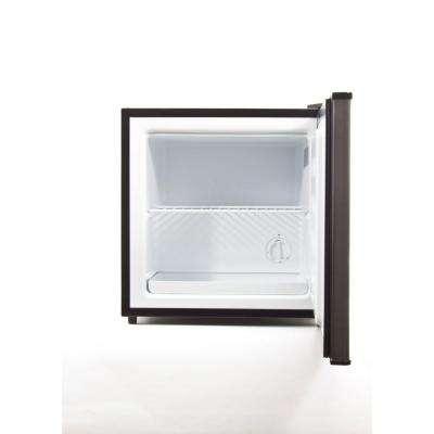 Equator-Midea 1.1 cu. ft. Free Standing Defrost Upright Mini Freezer, Stainless Steel Finish