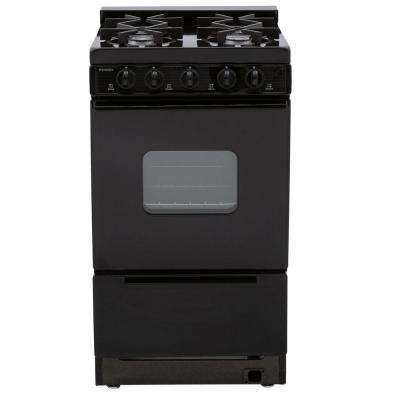 20 in. 2.42 cu. ft. Battery Spark Ignition Gas Range in Black