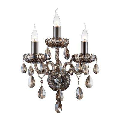 Providence Collection 3-Light Cognac Brandy Wall Sconce