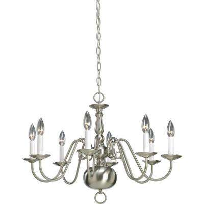 Americana Collection 8-Light Brushed Nickel Chandelier