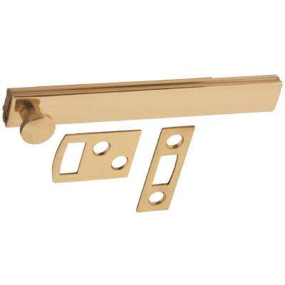 4 in. Bright Brass Surface Bolt
